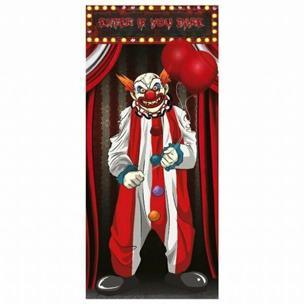 Halloween Scary Clown Door Decoration - 1.5m x 75cm